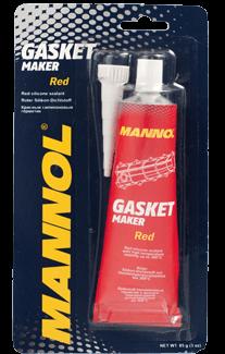 красный силиконовый герметик Mannol 9914 Gasket maker RED
